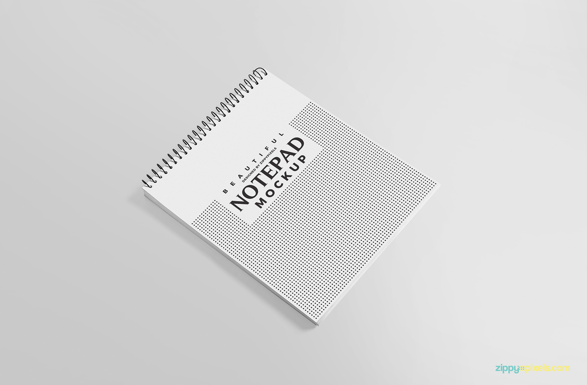Brilliant view of notepad mockup.
