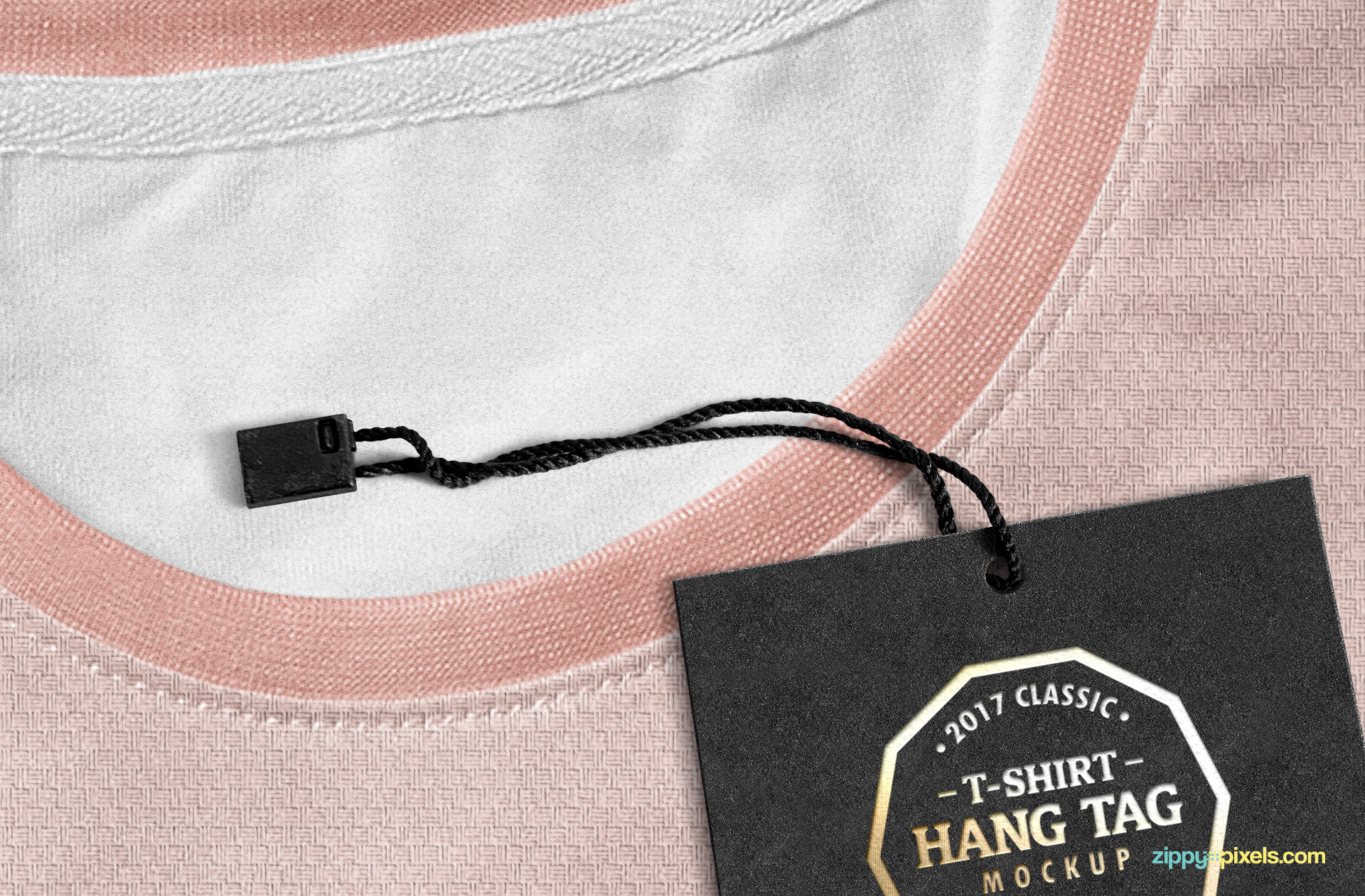 Customizable string of clothing tag.
