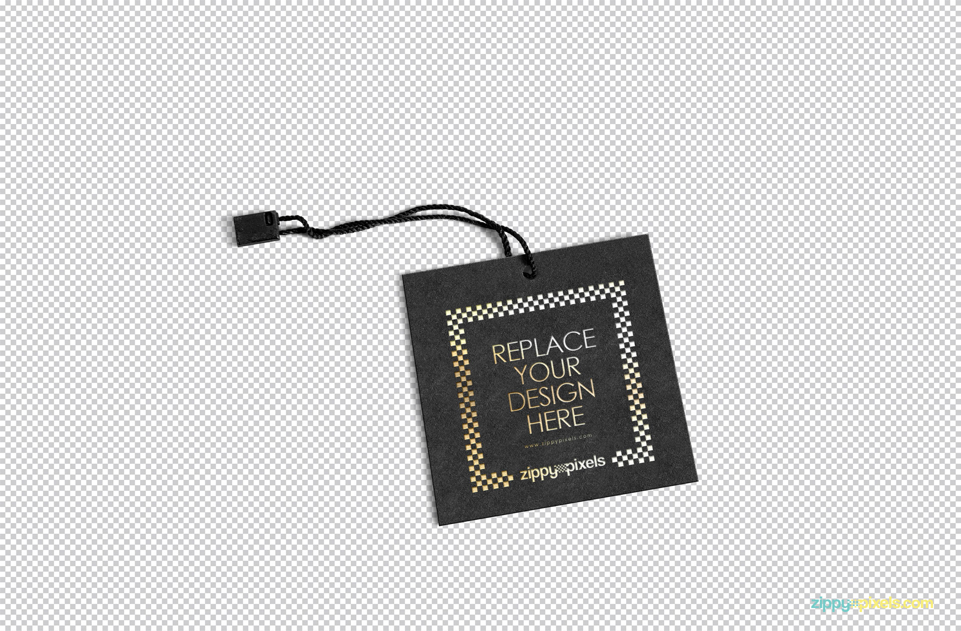 Edit the design of label tag mockup according to your liking.