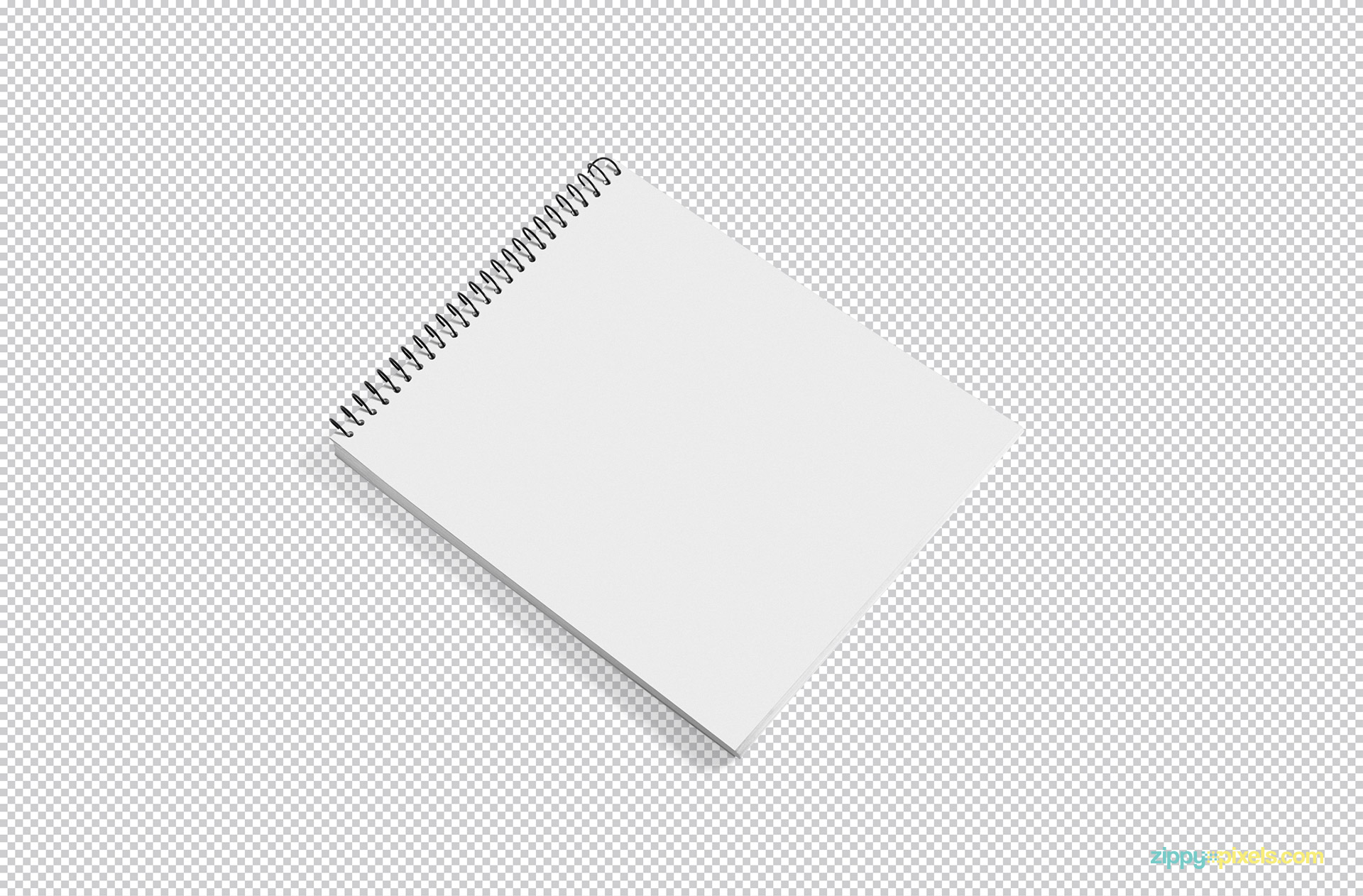Use Adobe Photoshop to edit this free notepad mockup as per your liking.
