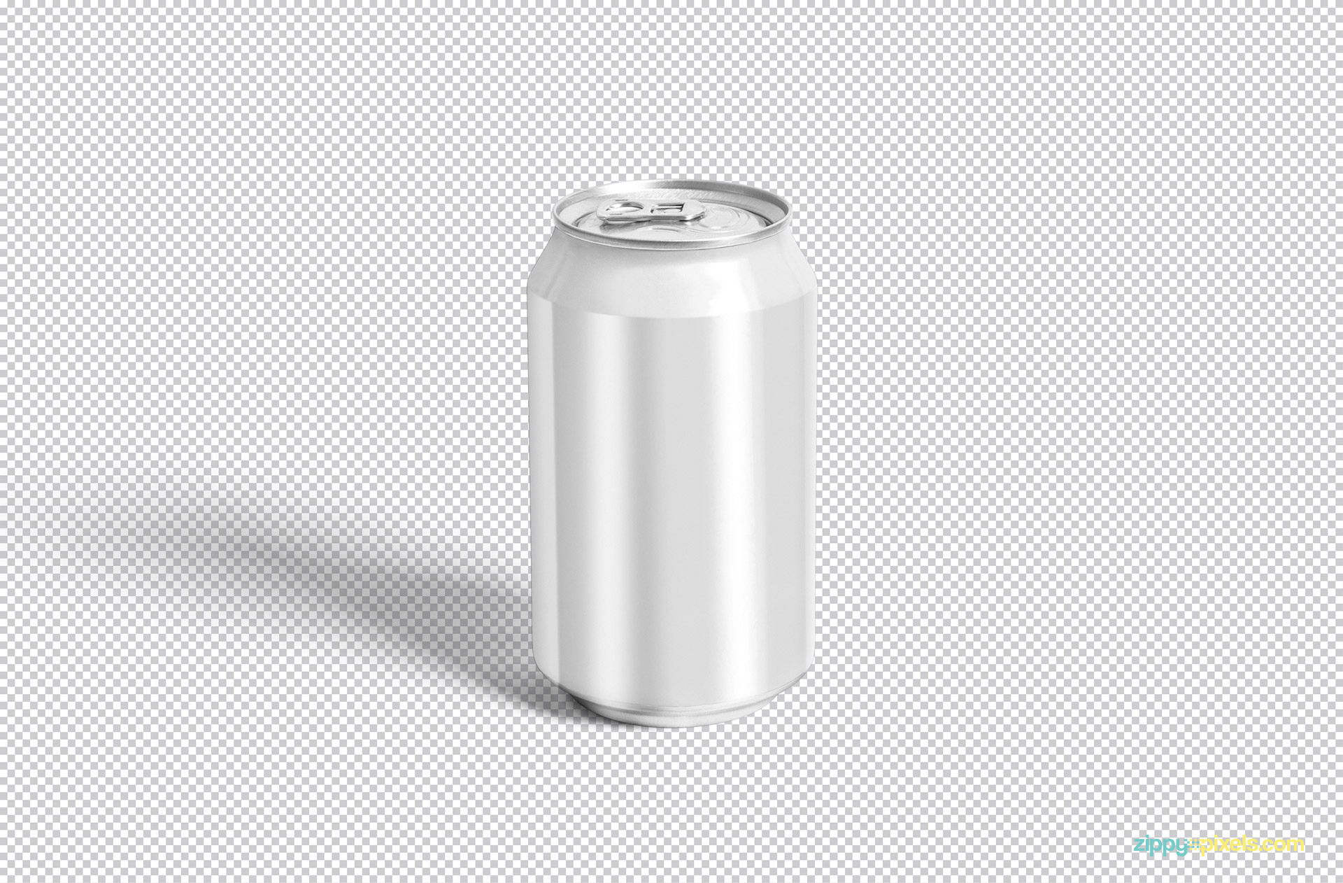 Every single part of this soda can mockup is editable.