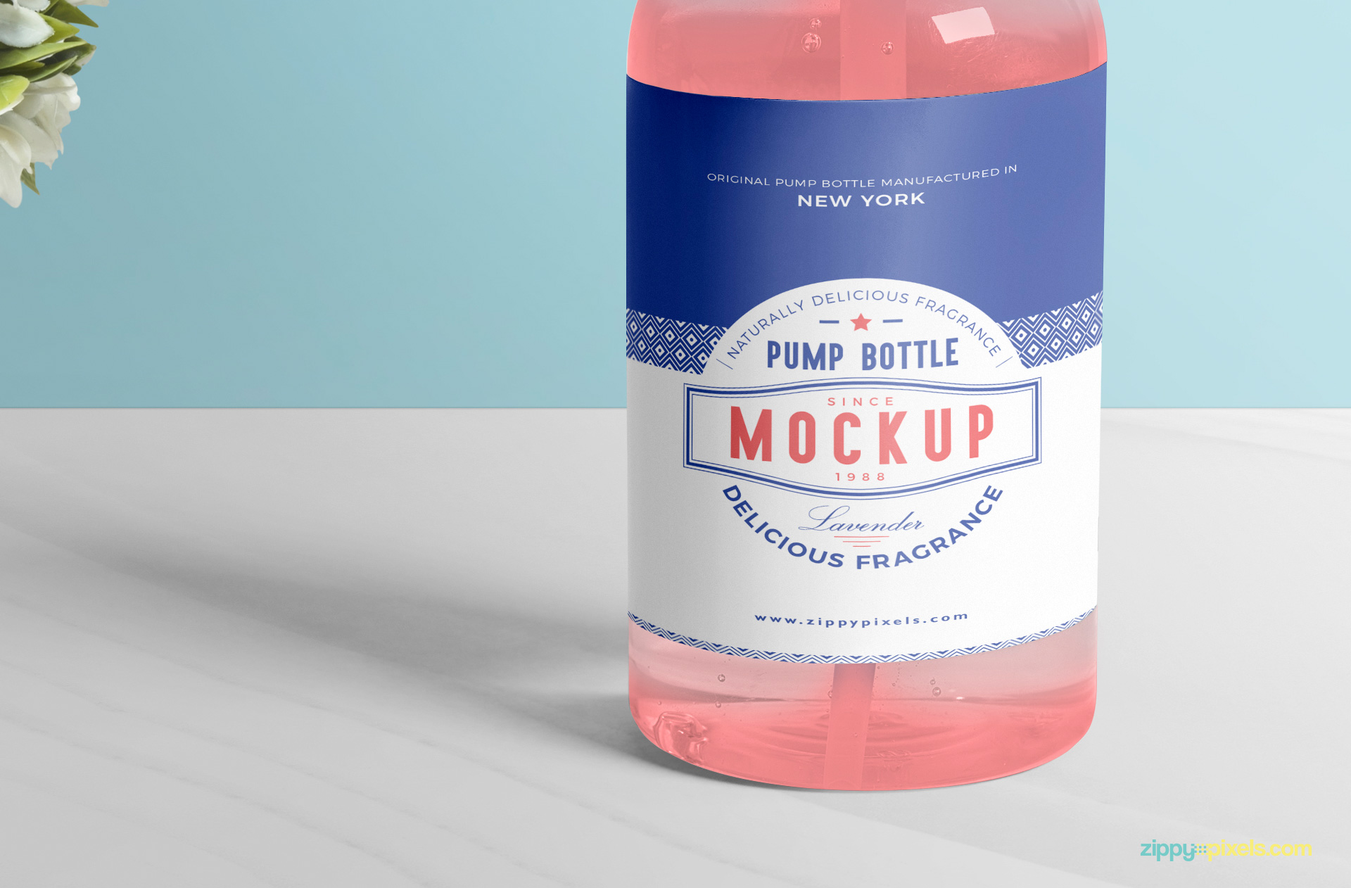 Use smart object option to place your design on this standard bottle mockup.