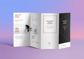 Free 4 Fold Brochure Mockup