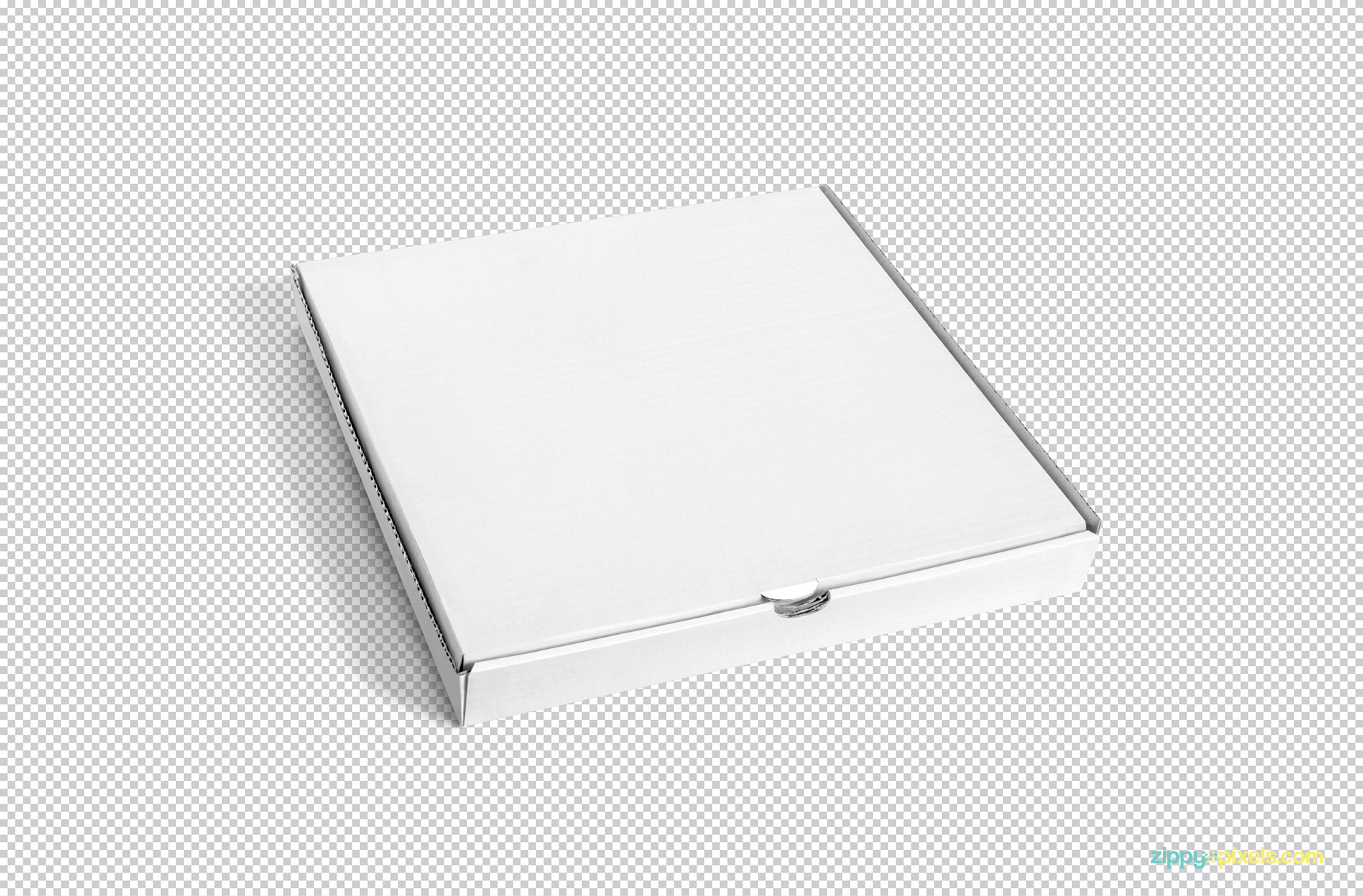 Blank white pizza box mockup PSD.