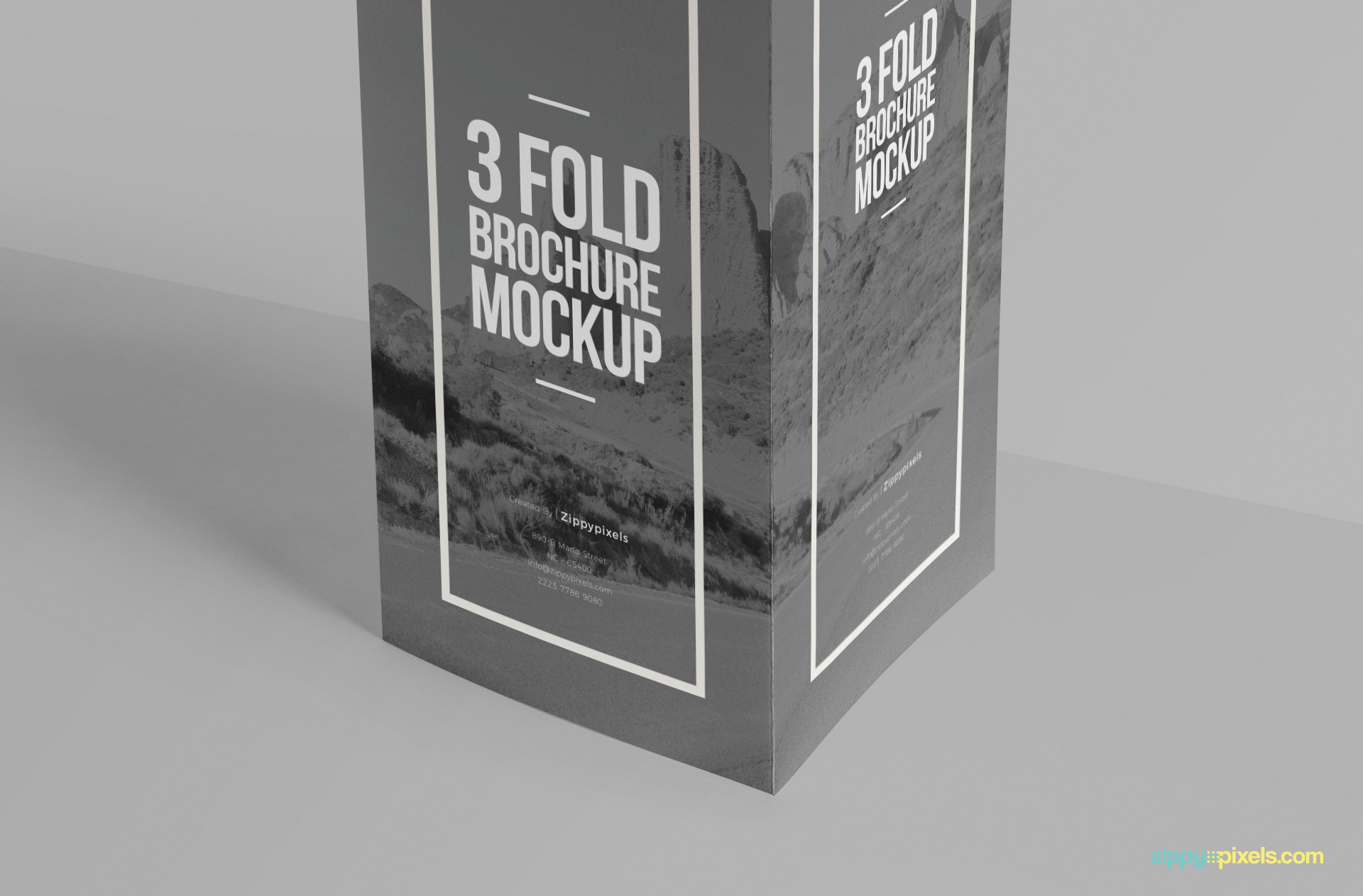 You can change front design of this 3 fold brochure.