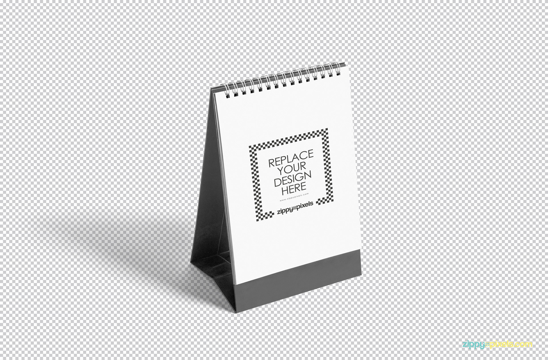 fully customizable desk calendar mockup.