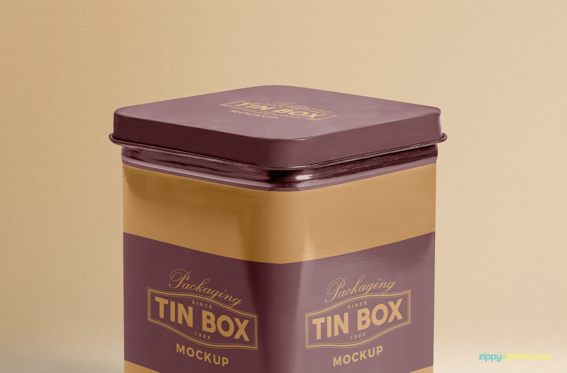 Customize top design of this tin box mockup.