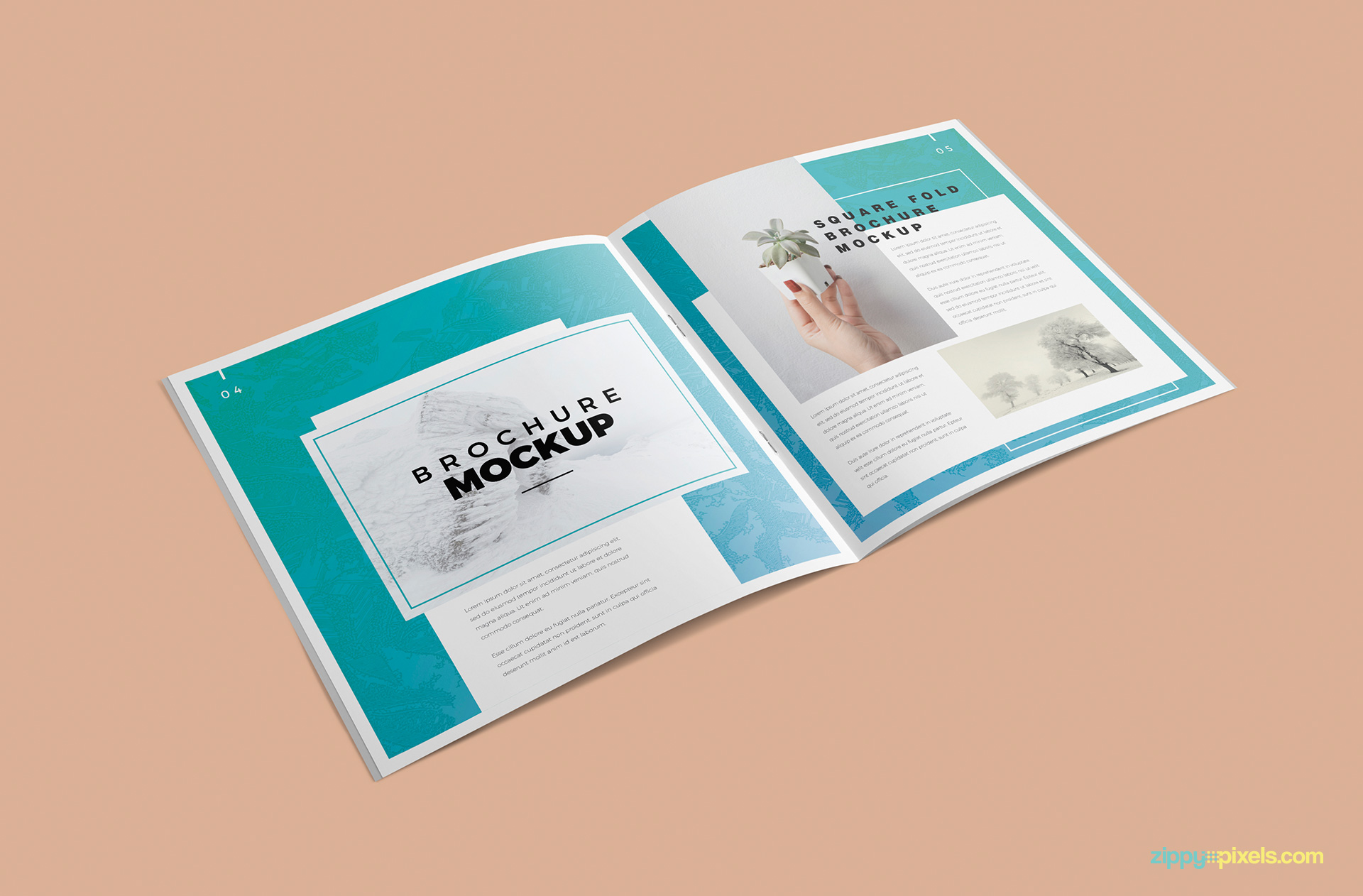 Elegantly designed brochure mockup.