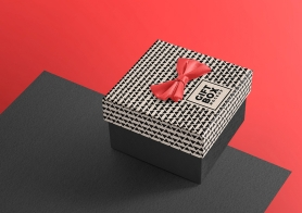 Free Beautiful Gift Box Mockup