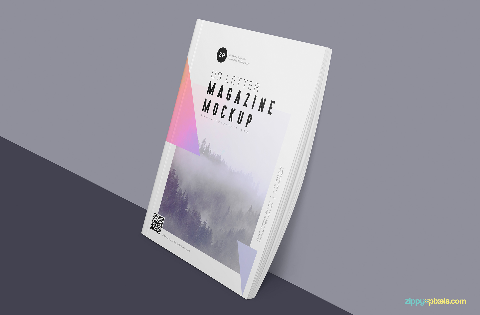 You can edit stack of this free magazine mockup.