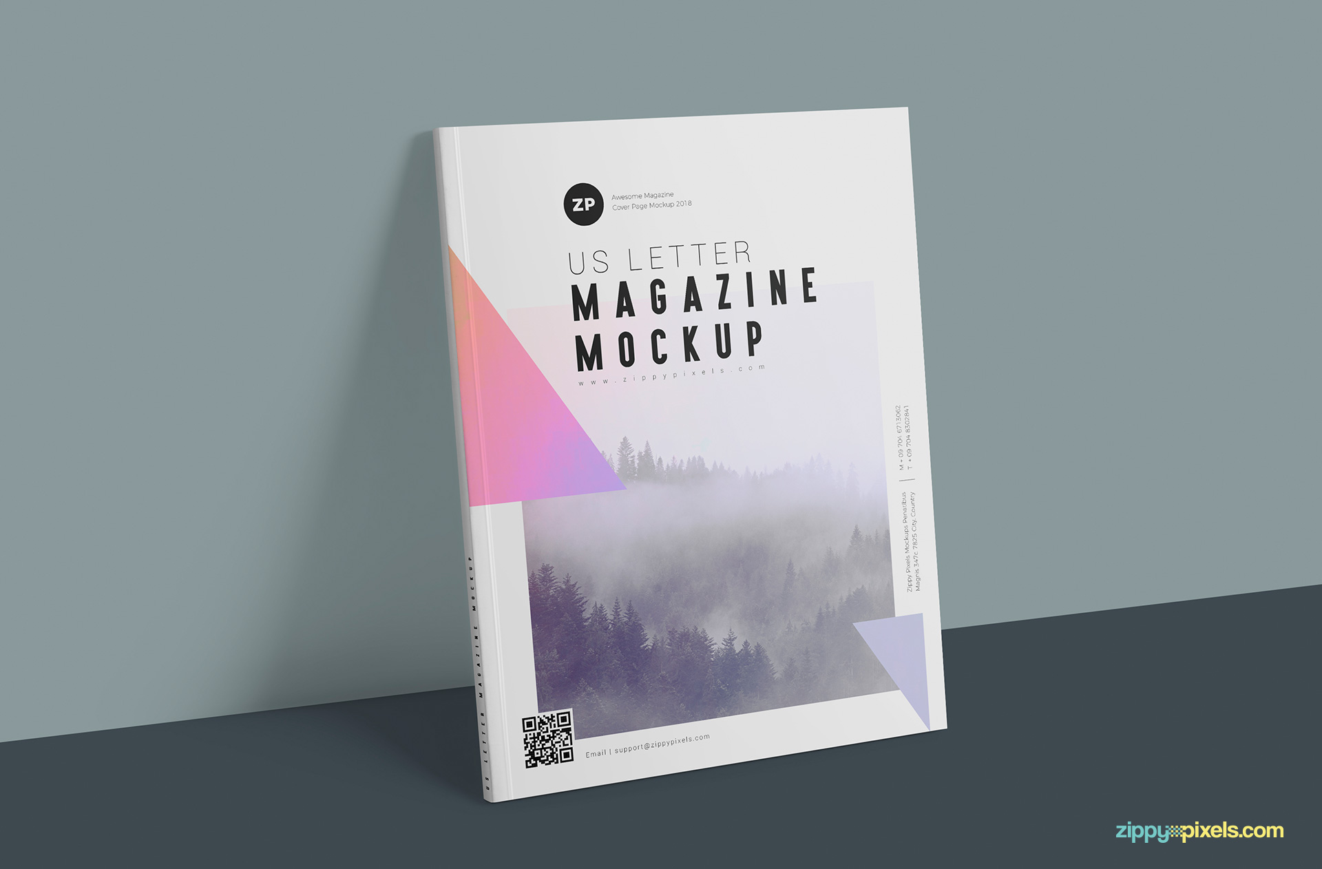 You can edit every element of this magazine mockup available in US letter size.