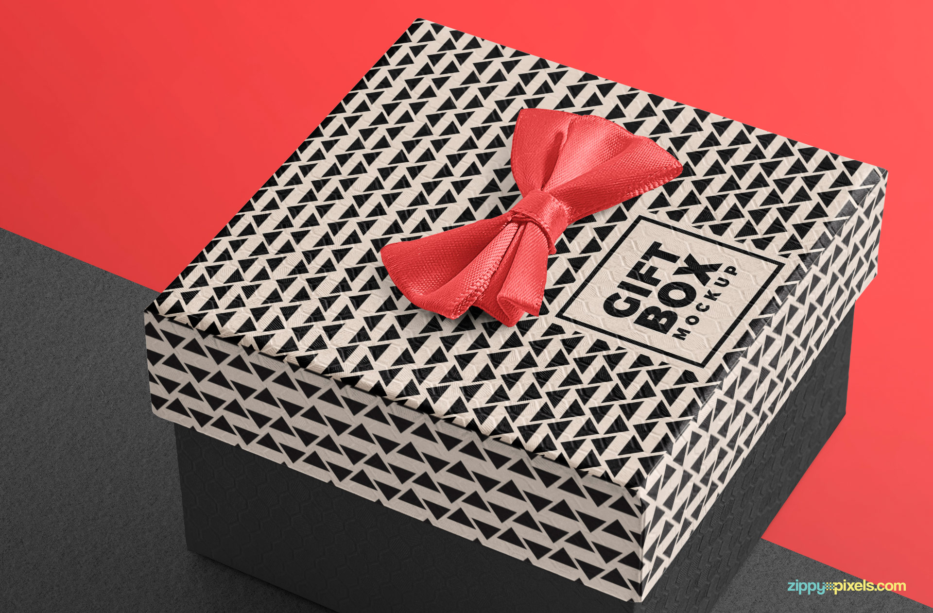 You can also remove this ribbon tie placed on box mockup PSD.