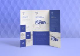 Free 3 Fold Brochure Mockups