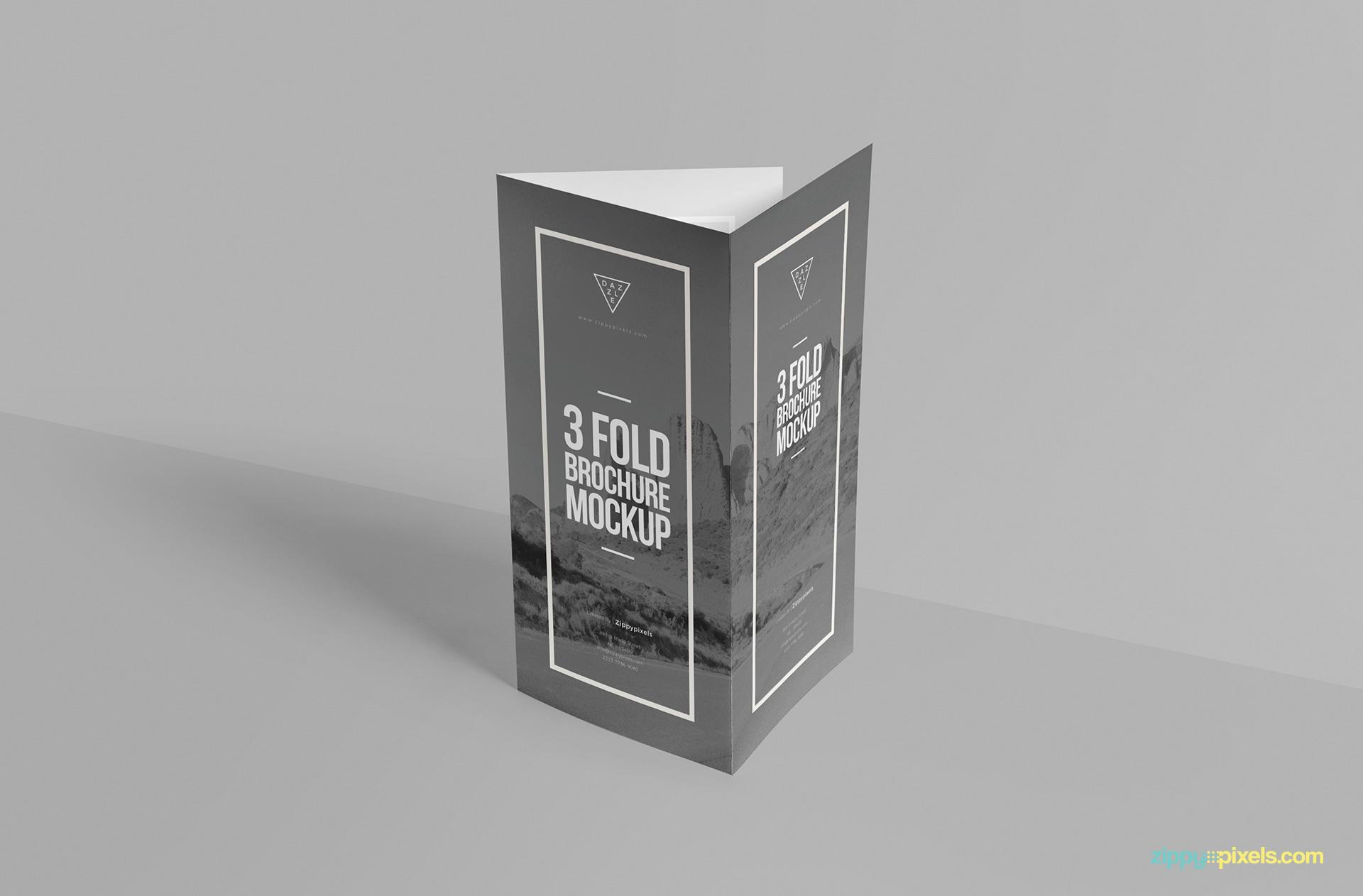 Amazing tri fold brochure mockup.
