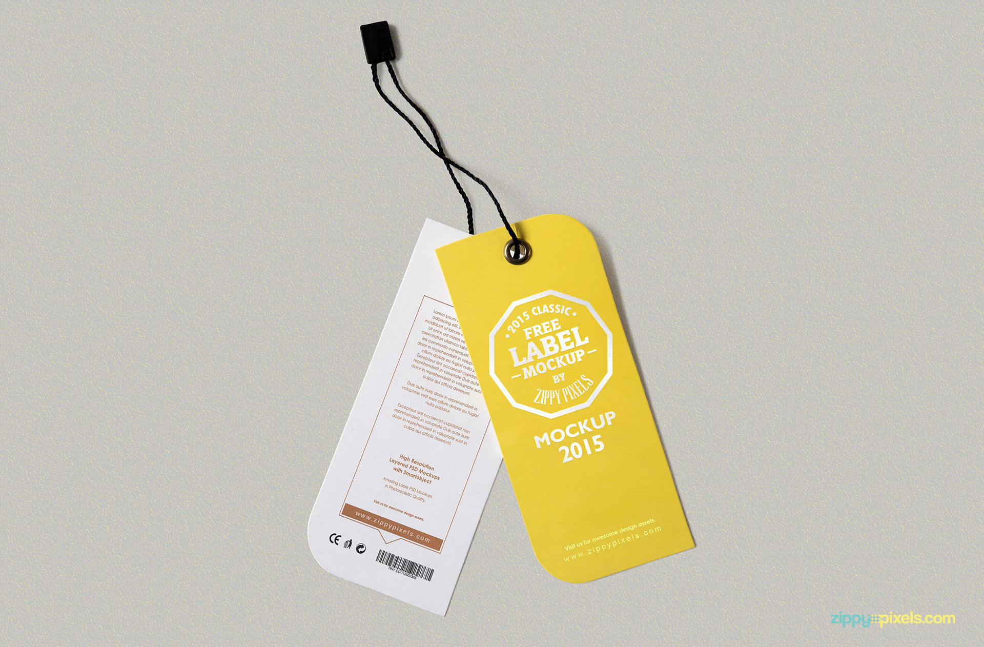 You can edit the front and back design of the tag