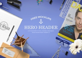 Free Professional Website Hero Images Mockup Scene