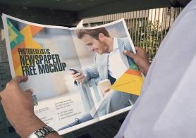 Free Newspaper Ad Design Mockup