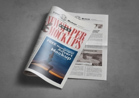 Free Tabloid Newspaper Mockup