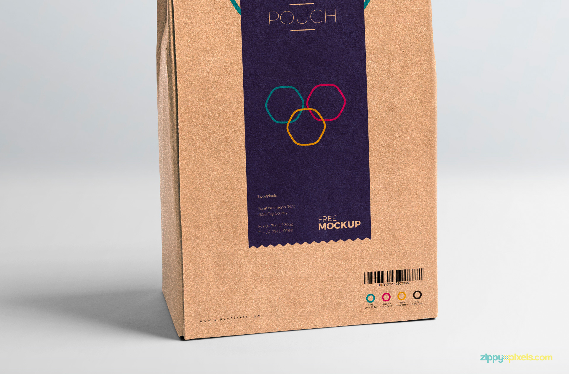 Shadows of pouch packaging is also adjustable.