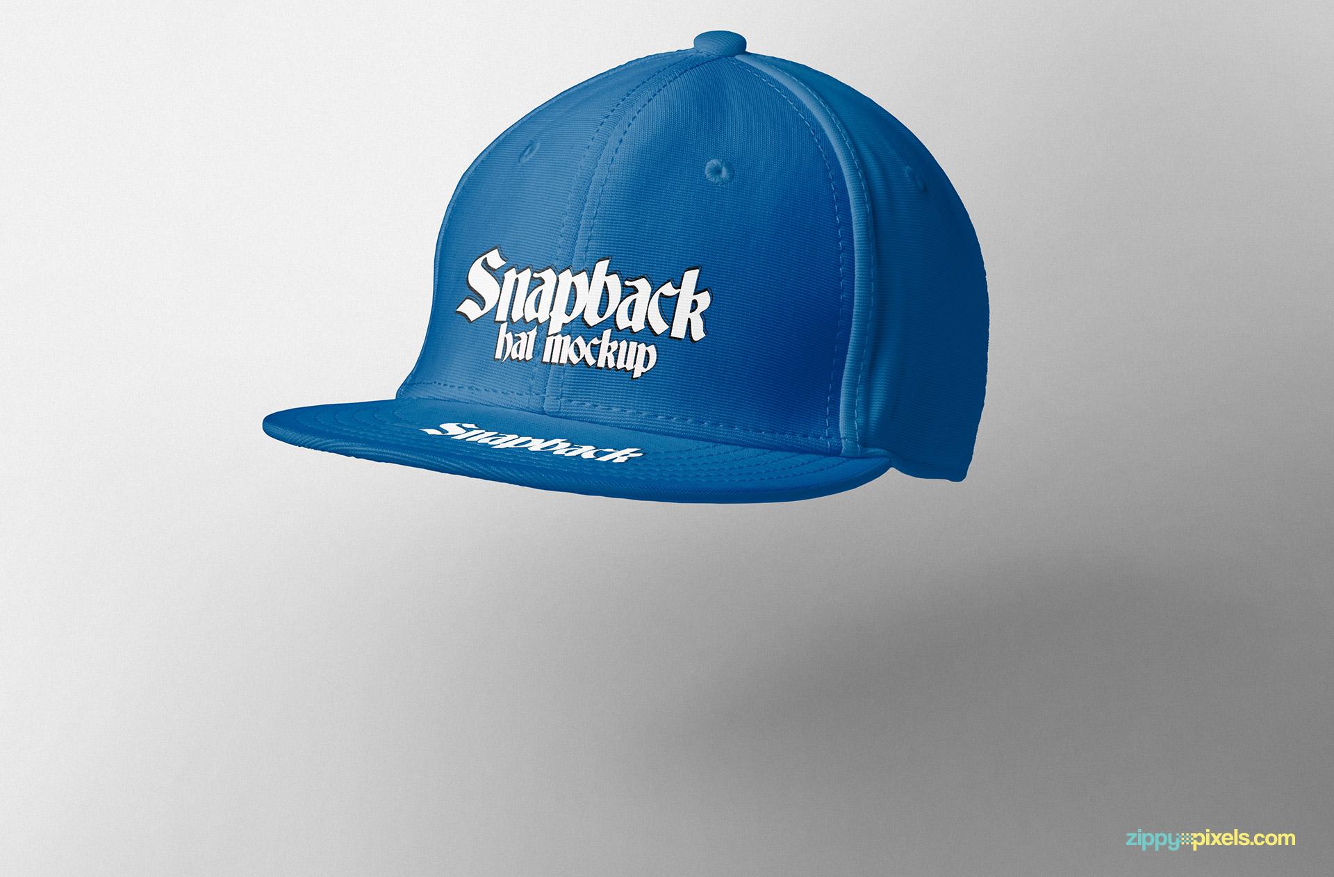 Move this snapback hat mockup anywhere on the scene.