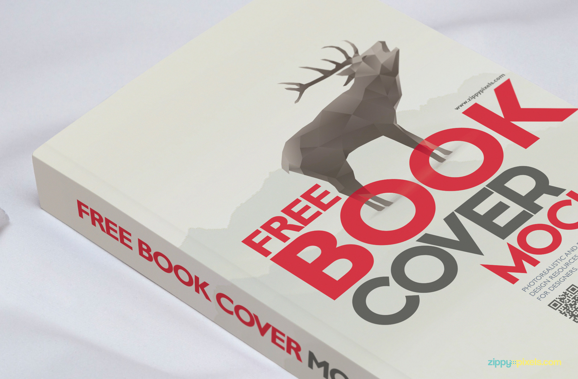 Perfectly designed book binding mockup.