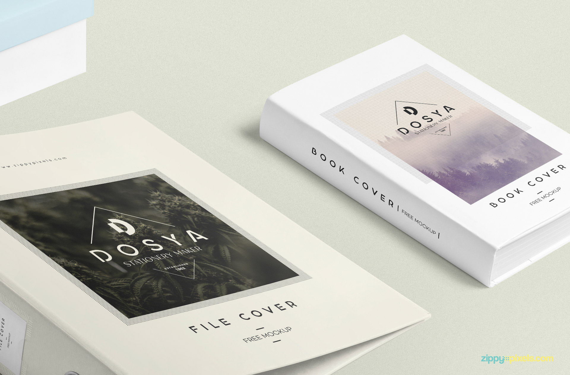 Even the book cover mockup has separate options for top and binding design.