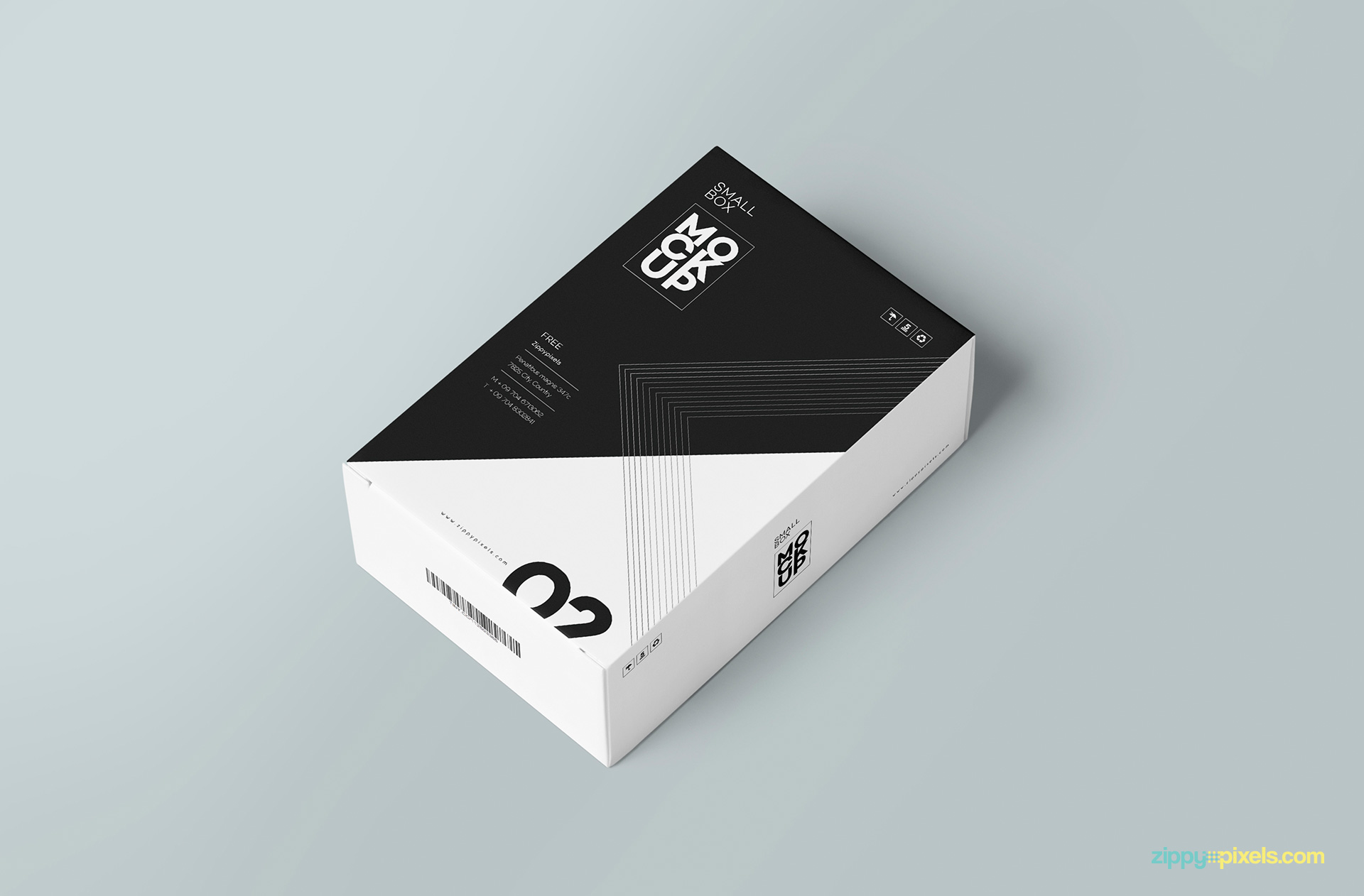 Free customizable card box mockup