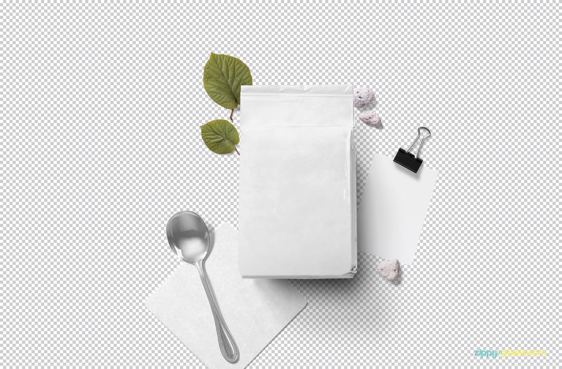 Use Photoshop to add your designs in this plain pouch mockup PSD.