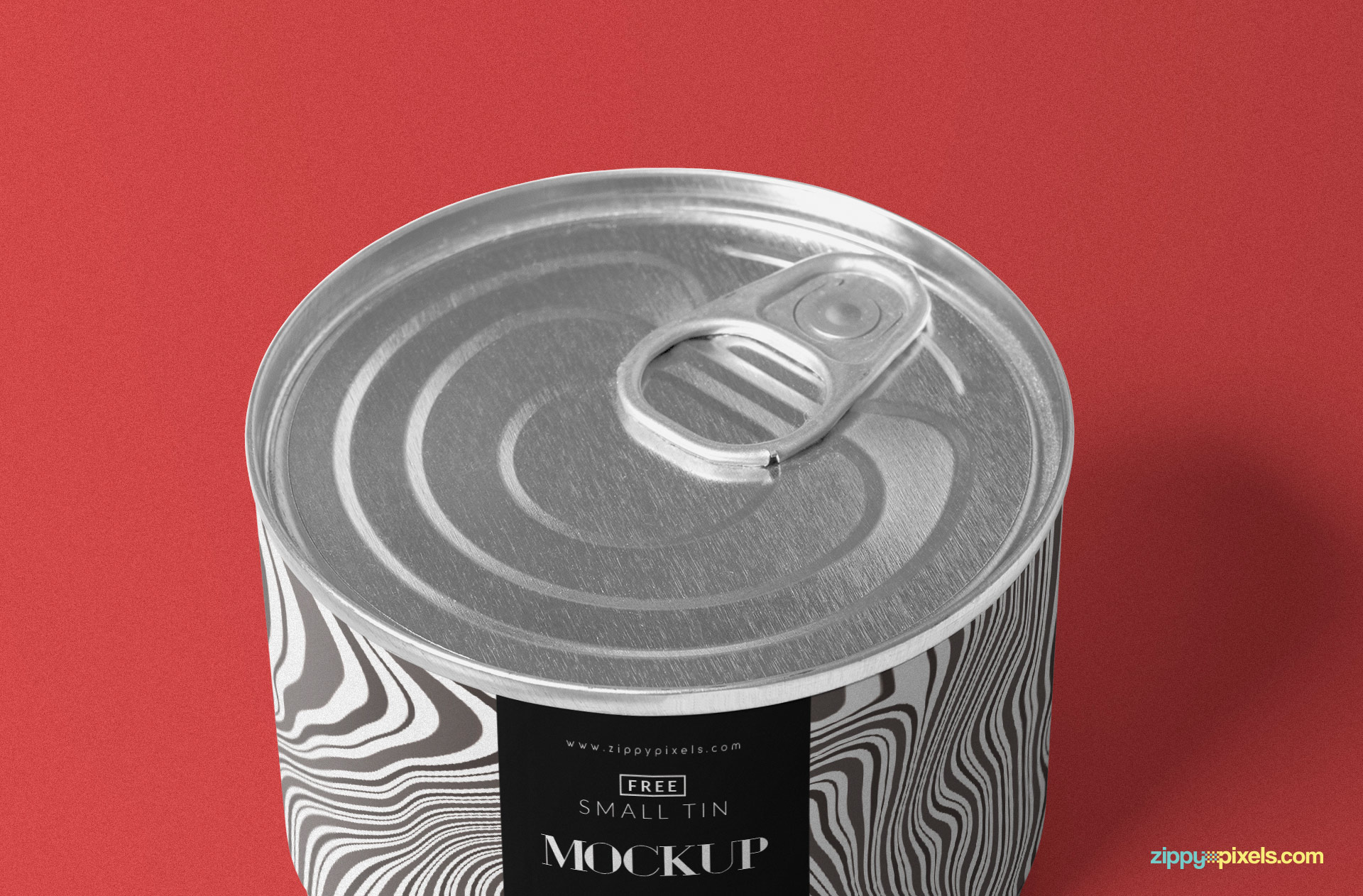 You can change the top design of the tin mockup.