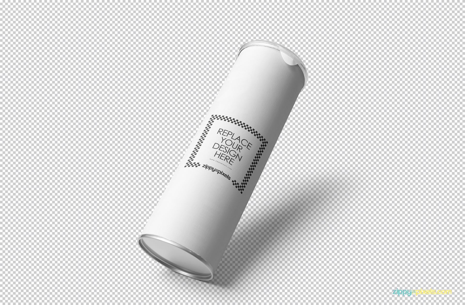 Simply use smart object option to replace the design of cardboard tube.