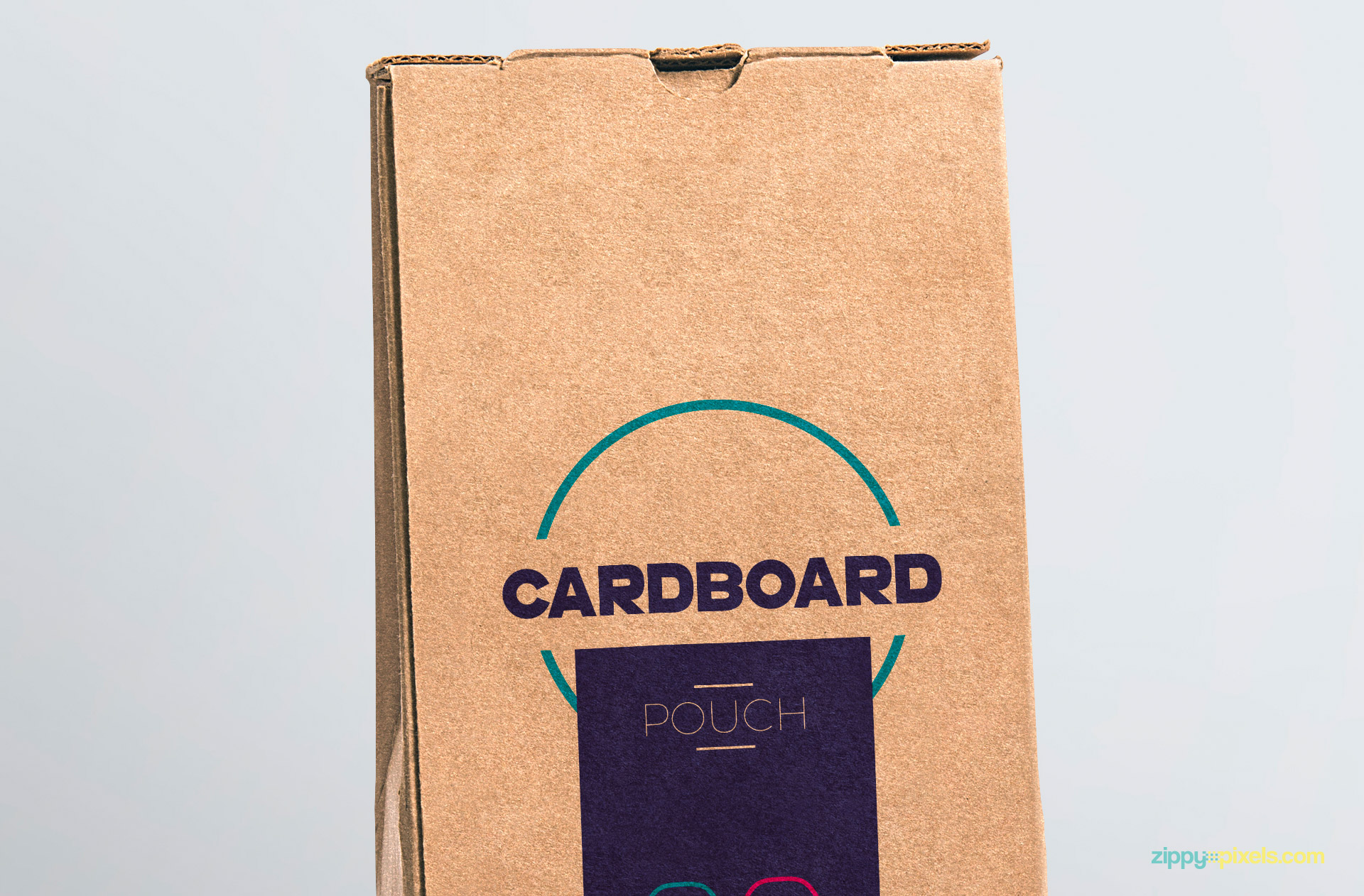 Fine cuts of the cardboard pouch packaging mockup.