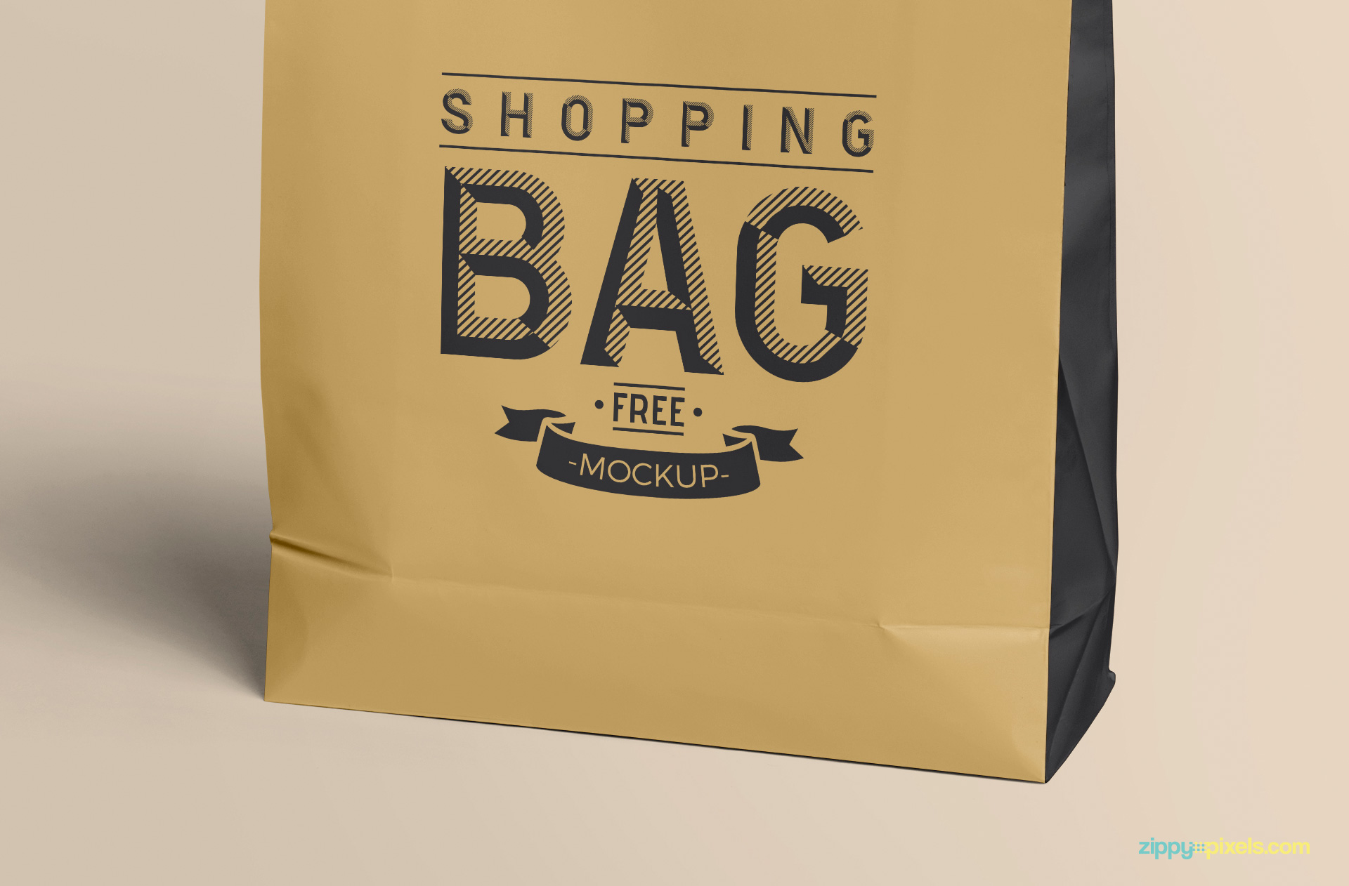 Realistic bag with some fine fold marks on it.