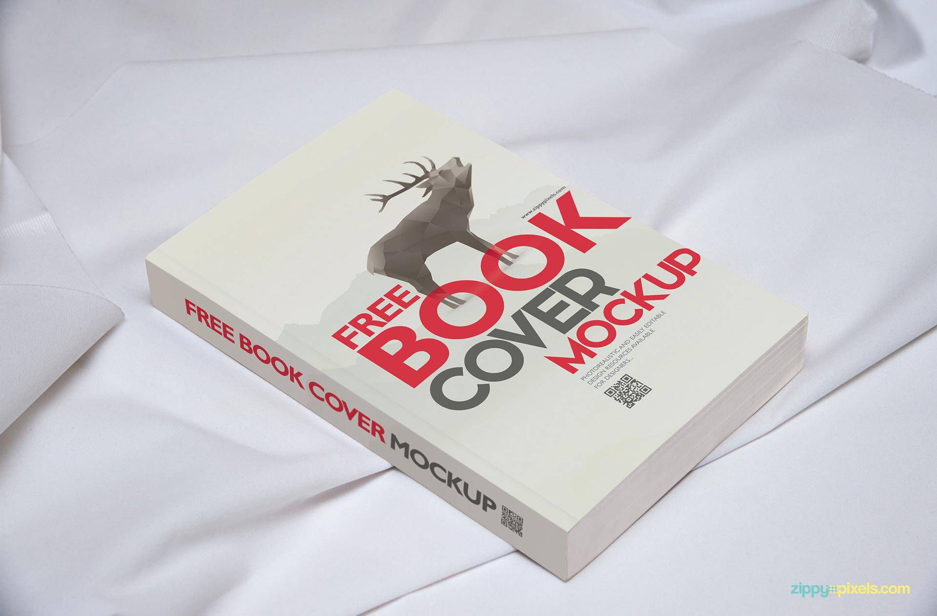 Free Brilliant Book Mockup Template   ZippyPixels