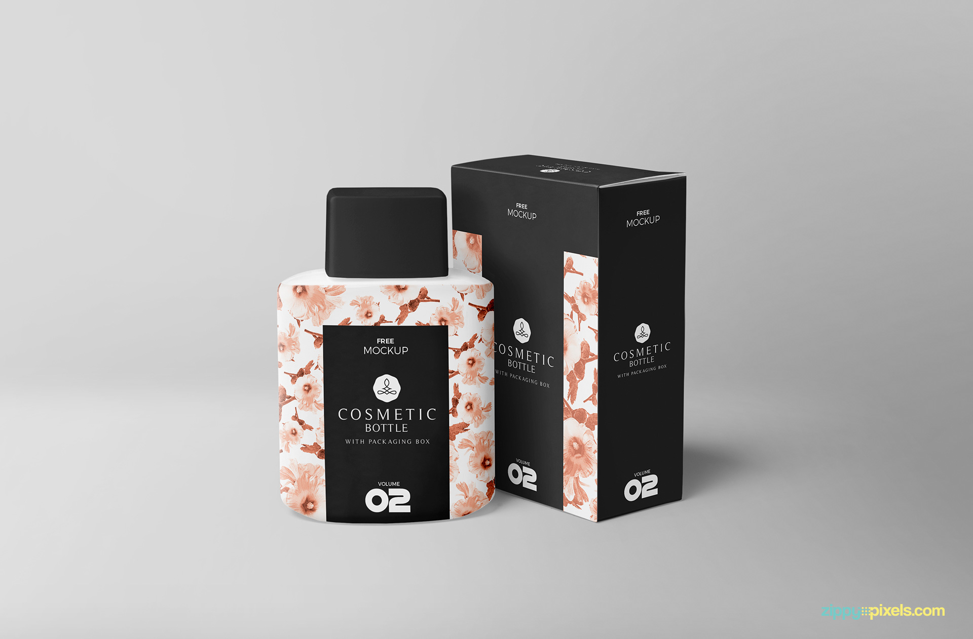 Free cosmetic bottle mockup.