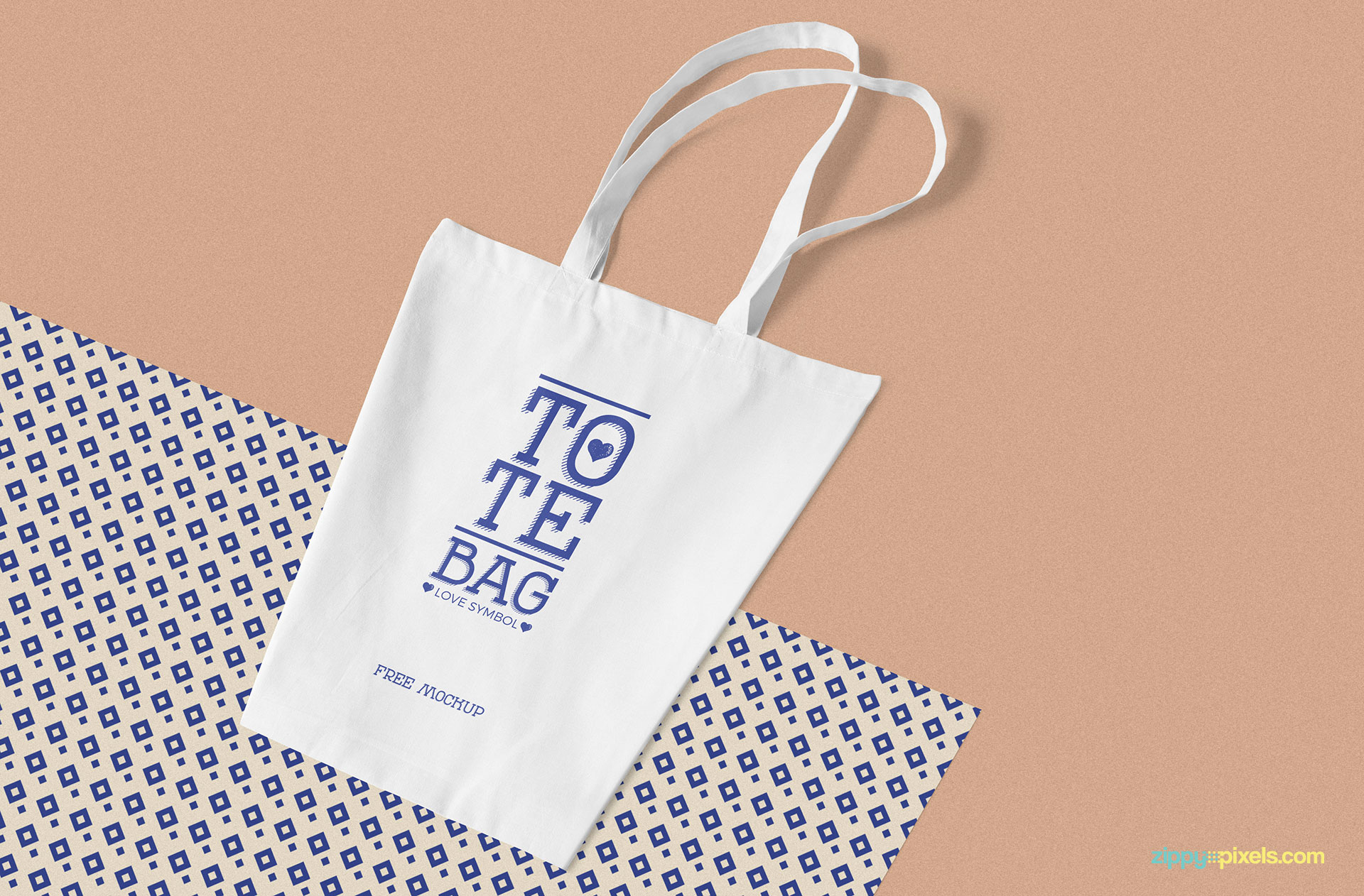 Fully customizable and free cotton bag mockup.