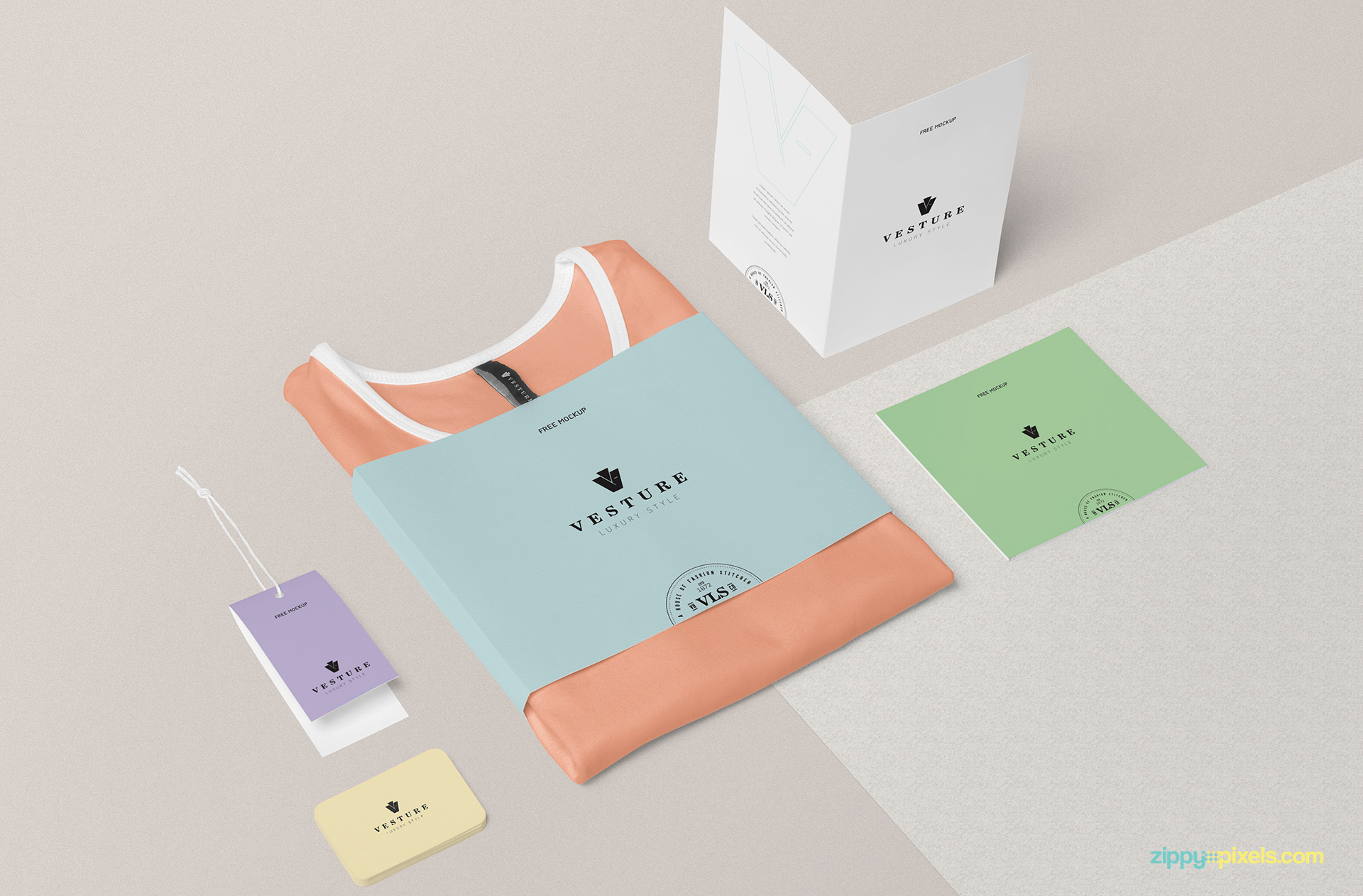 Fully customizable fashion branding mockup.