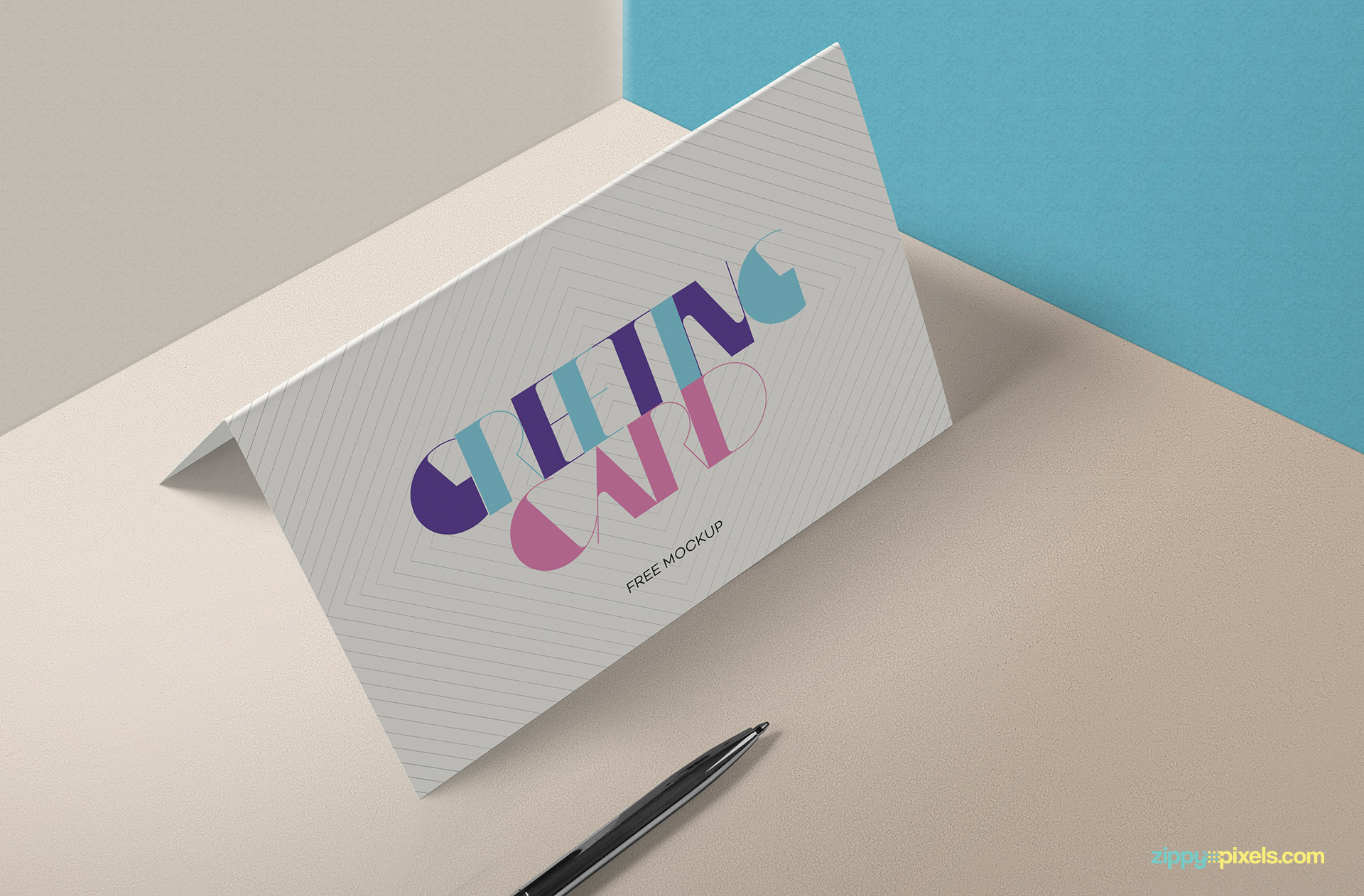 Fully customizable free invitation card mockup.