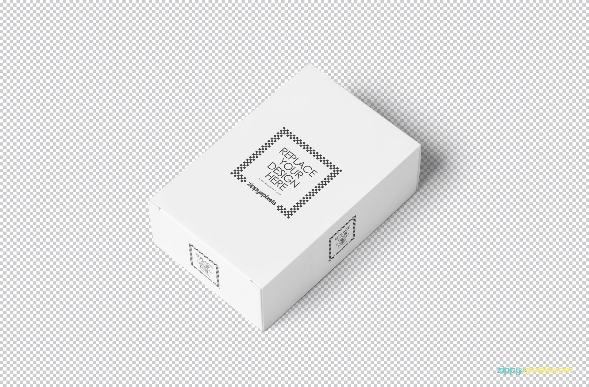 White plain box mockup PSD.