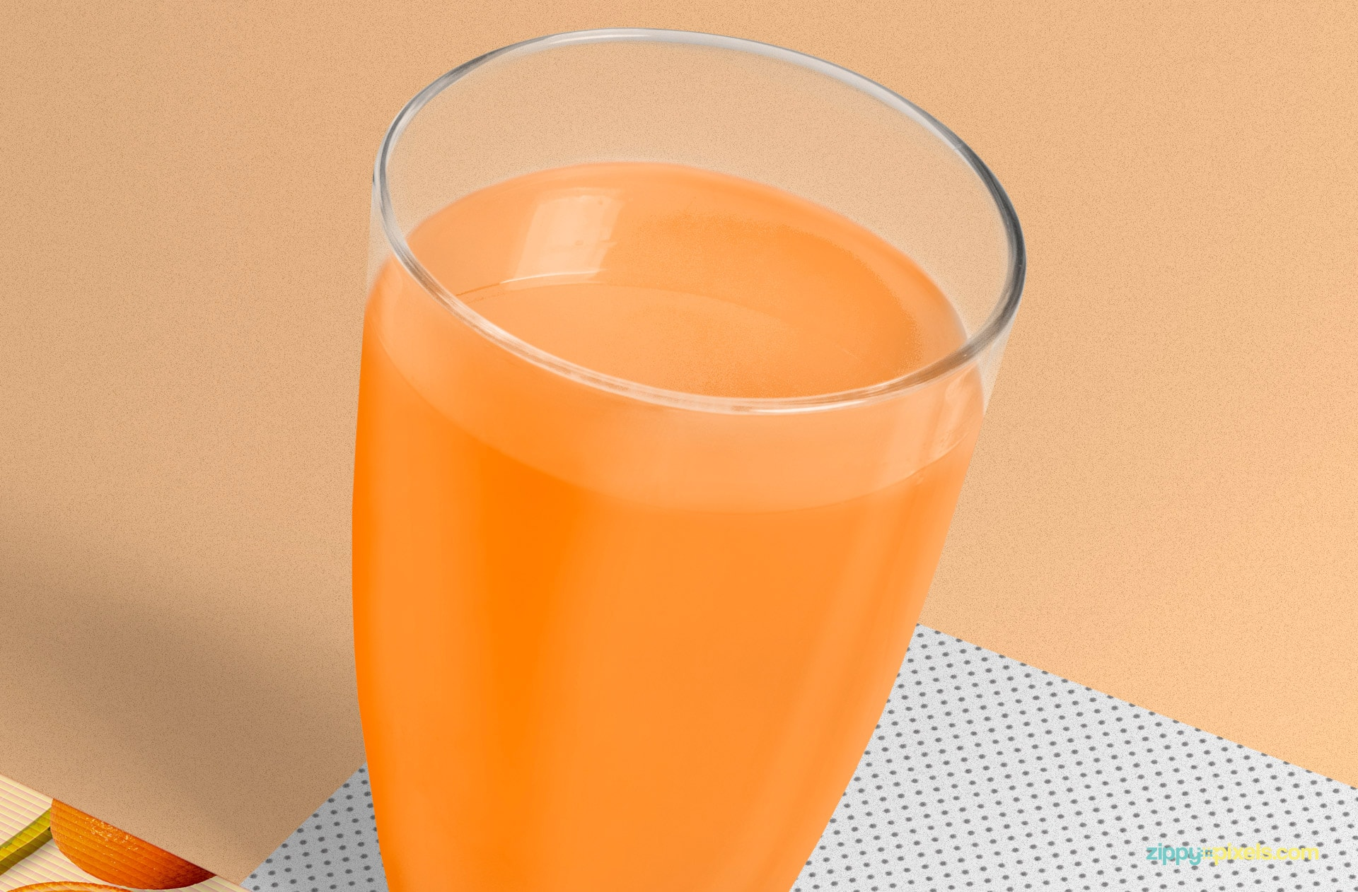 You can change the color of the juice glass.