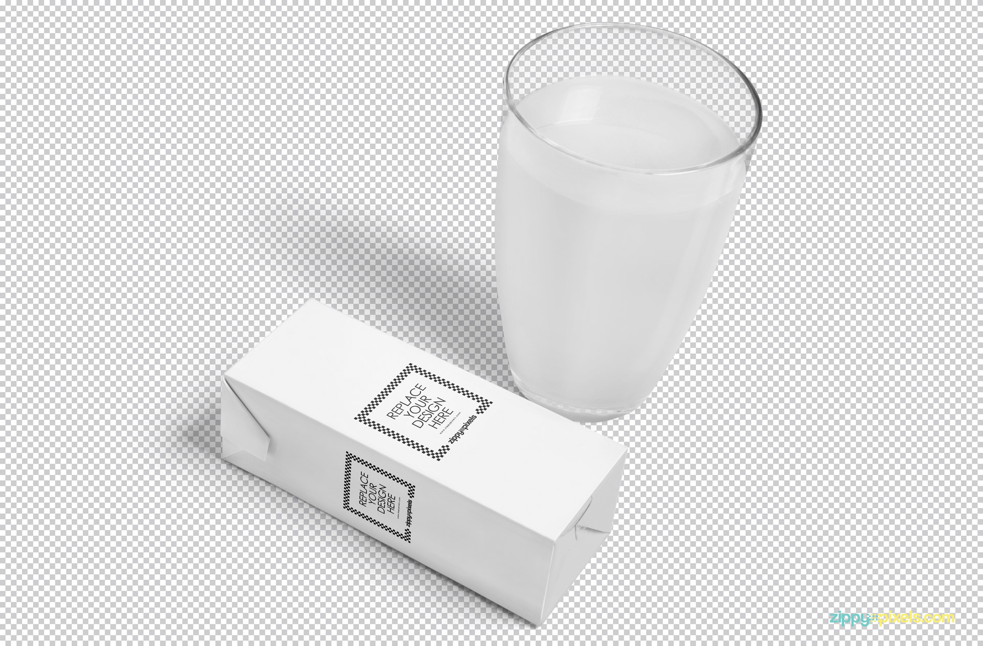 Customize PSD of juice mockup and glass.