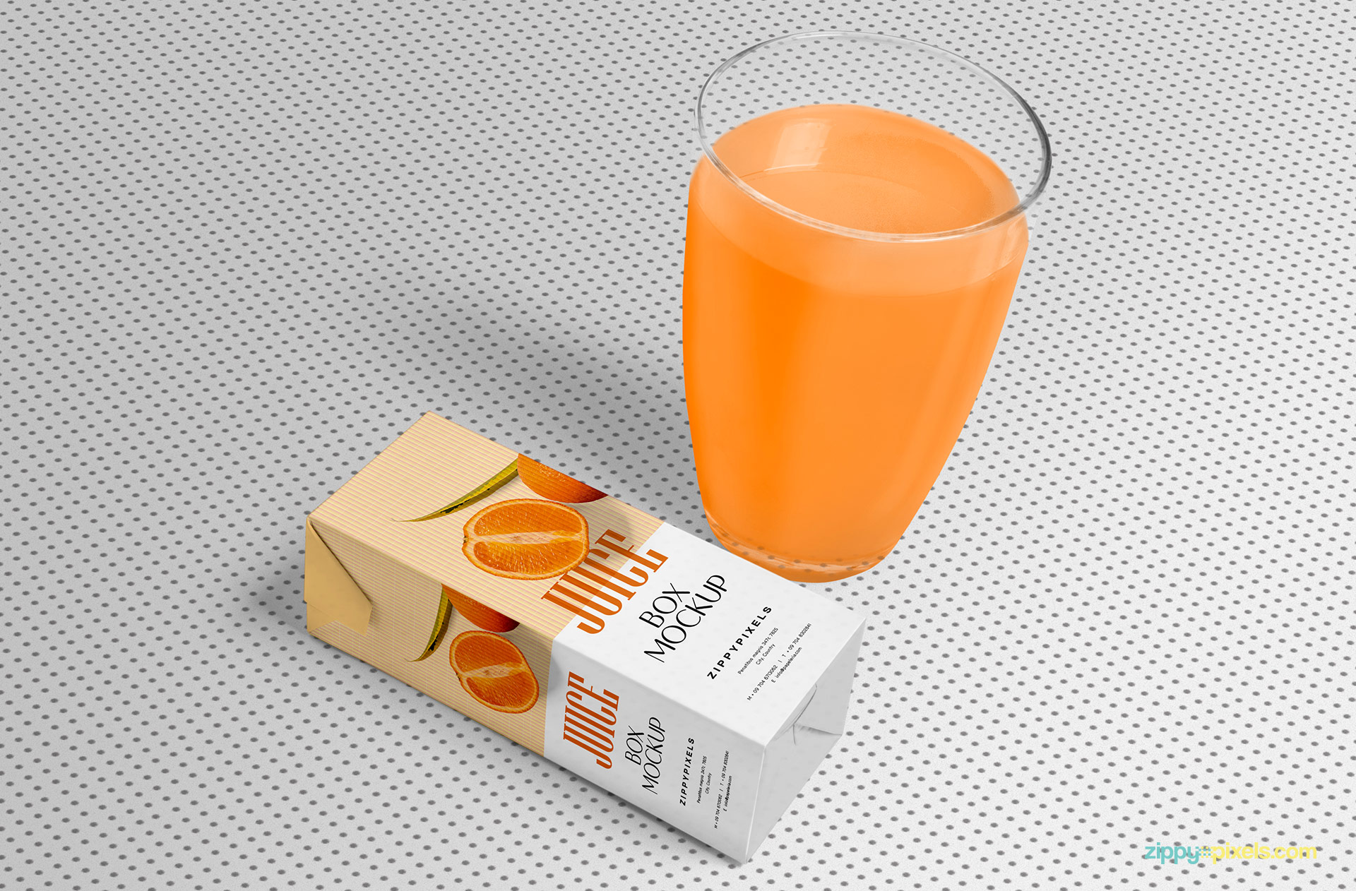 You can also change the textured background of the orange juice mockup.