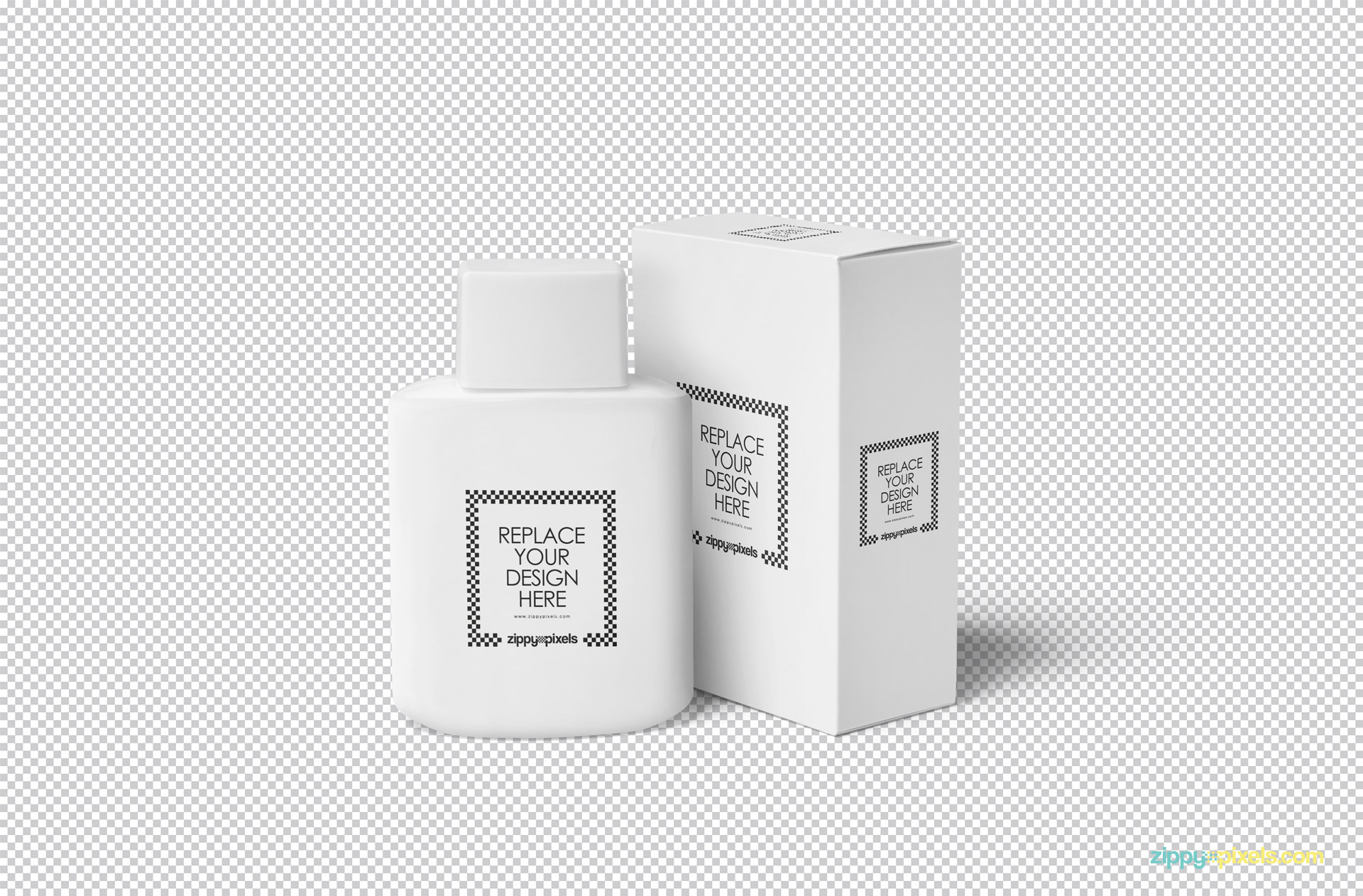 Use the smart object for the placement of your designs in this packaging mockup.