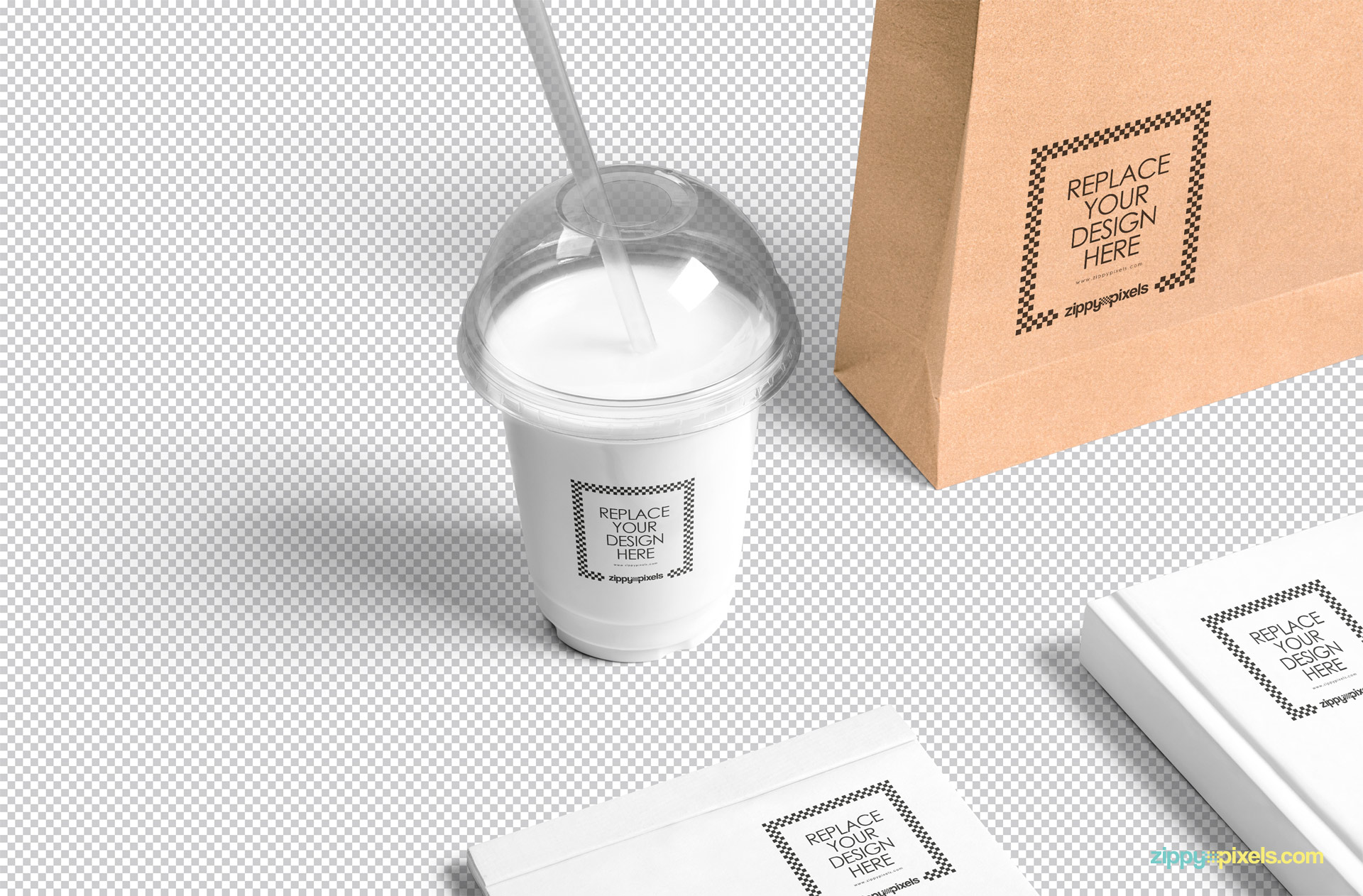 Just use Photoshop to place your designs in this blank plastic cup mockup scene.