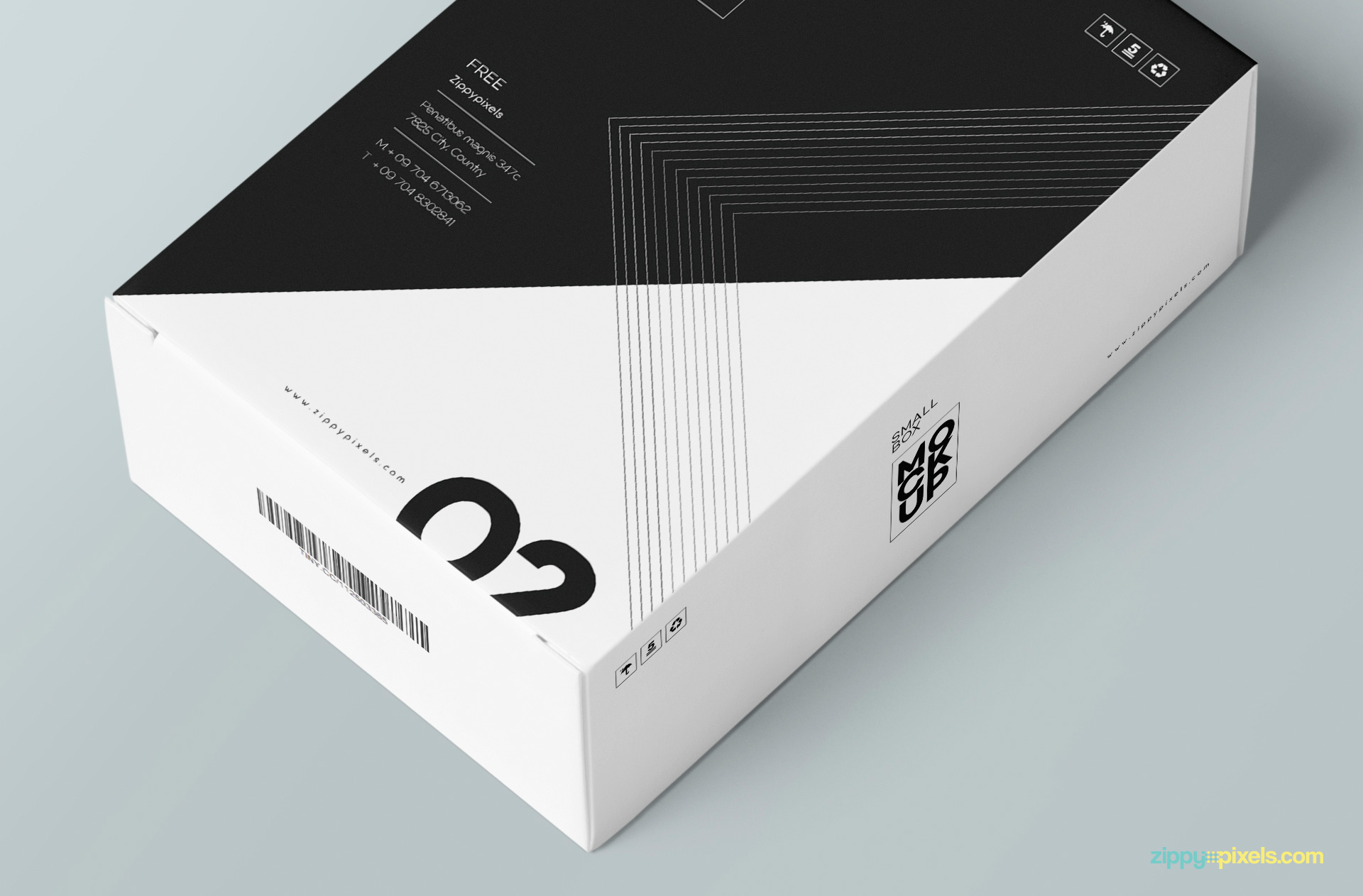 Free playing card box mockup.