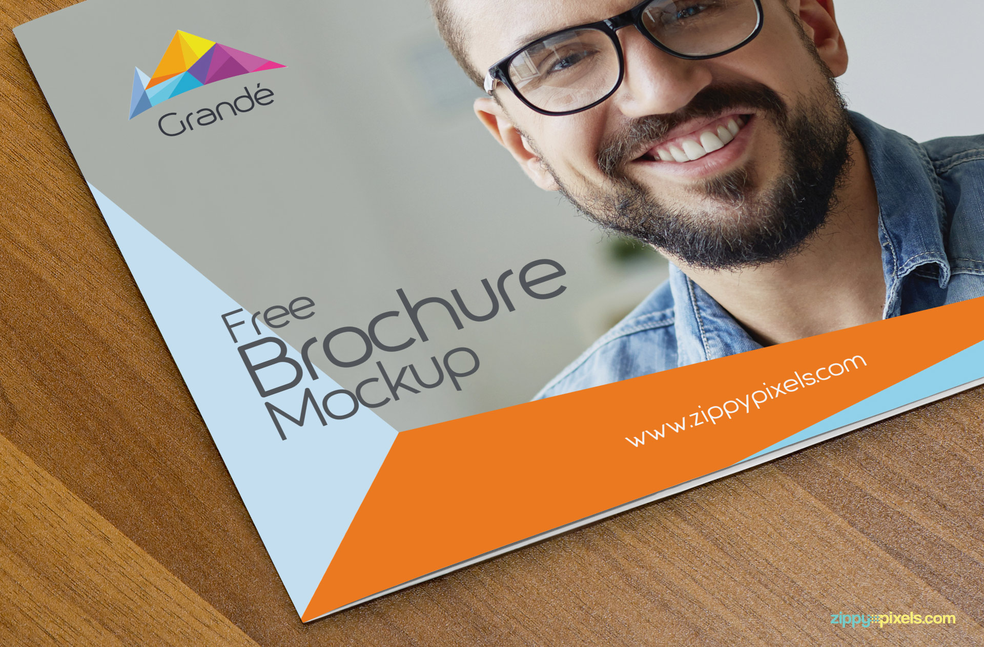 Realistic brochure mock up design.
