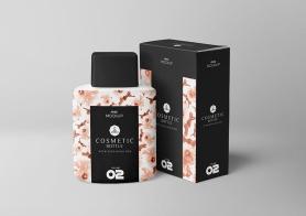 Free Realistic Cosmetic Bottle Mockup