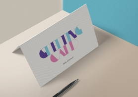 Free Stylish Invitation Card Mockup