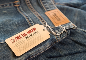 2 Free Clothing Label Mock Ups