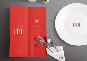 Free Sophisticated Menu Mockup