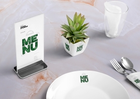 Free Table Menu Mockup Scene